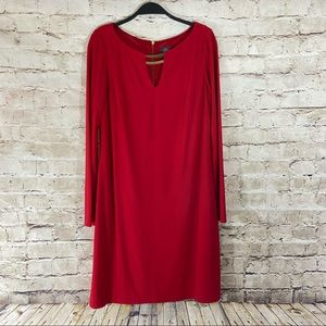 Vince Camuto red long sleeve dress size 8